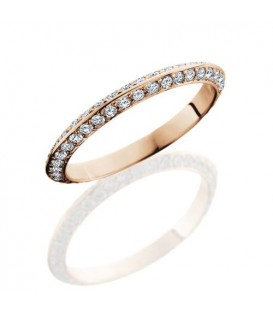 More about 1.04 Carat Round Brilliant Diamond Eternity Ring 14Kt Rose Gold