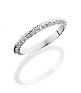 Rings - 1.04 Carat Round Brilliant Diamond Eternity Band 18Kt White Gold