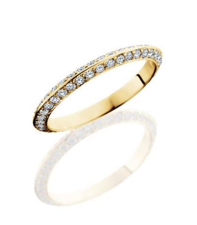 Rings - 1.04 Carat Round Brilliant Diamond Eternity Band 18Kt Yellow Gold