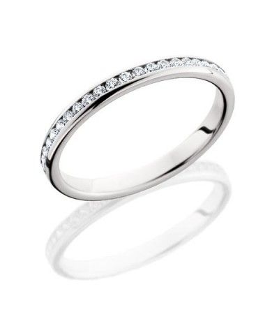 Rings - 0.58 Carat Round Brilliant Diamond Eternity Band 18Kt White Gold