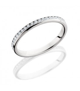 More about 0.58 Carat Round Brilliant Diamond Eternity Ring 18Kt White Gold