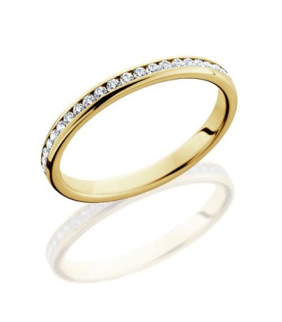 Rings - 0.58 Carat Round Brilliant Diamond Eternity Band 18Kt Yellow Gold