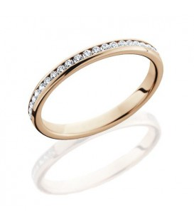 Rings - 0.43 Carat Round Brilliant Diamond Eternity Band 18Kt Rose Gold