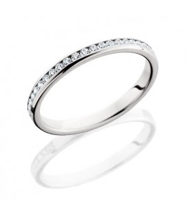 Rings - 0.43 Carat Round Brilliant Diamond Eternity Band 18Kt White Gold