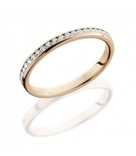 Rings - 0.29 Carat Round Brilliant Diamond Eternity Band 18Kt Rose Gold