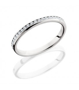 Rings - 0.29 Carat Round Brilliant Diamond Eternity Band 18Kt White Gold