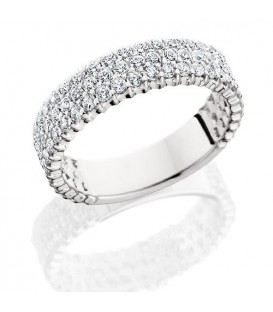 Rings - 2.28 Carat Round Brilliant Diamond Eternity Band 18Kt White Gold