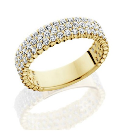 Rings - 2.28 Carat Round Brilliant Diamond Eternity Band 18Kt Yellow Gold