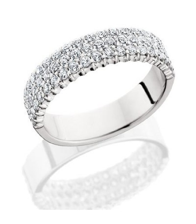 Rings - 1.53 Carat Round Brilliant Diamond Eternity Band 18Kt White Gold