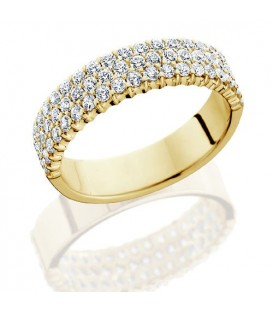 Rings - 1.53 Carat Round Brilliant Diamond Eternity Band 18Kt Yellow Gold