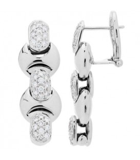 Earrings - 0.97 Carat Round Cut Baraka Diamond Earrings 18Kt White Gold