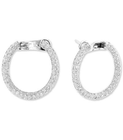 Earrings - 1.08 Carat Round Cut Diamond Earrings 14Kt White Gold