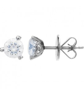 More about 1.00 Carat Round Brilliant Diamond Solitaire Earrings 18Kt White Gold