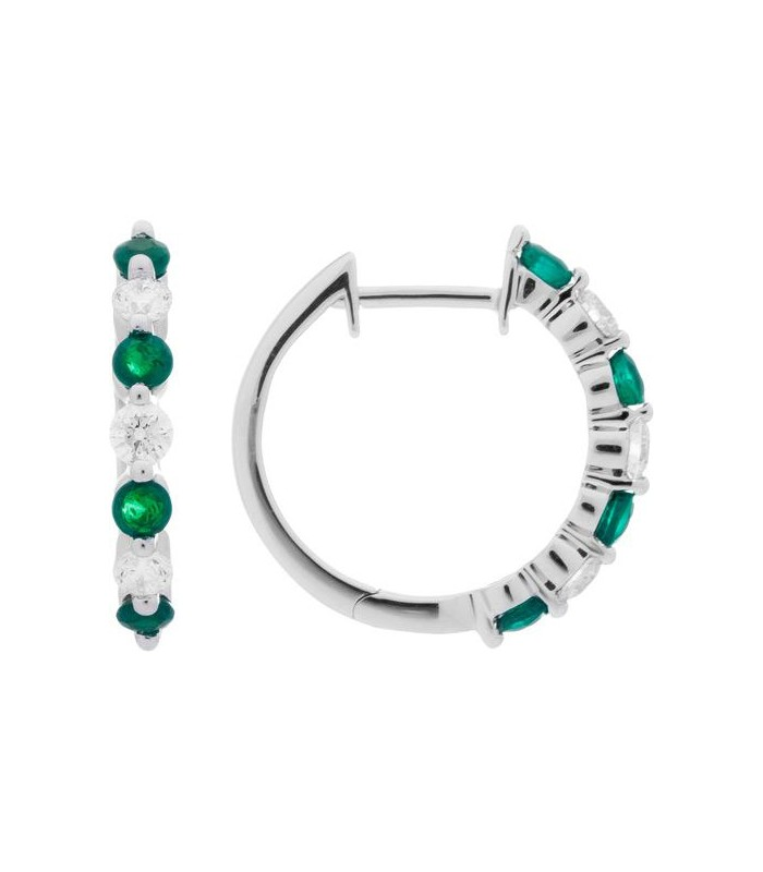 Carat Diamond Hoop Earrings