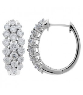 More about 2.50 Carat Round Cut Eternitymark Diamond Hoop Earrings 18Kt White Gold