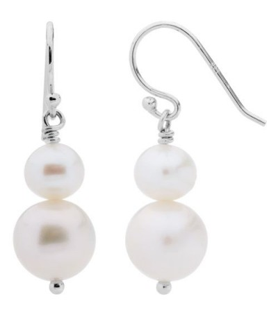 Earrings - Cultured Freshwater Pearls Earrings 925 Sterling Silver