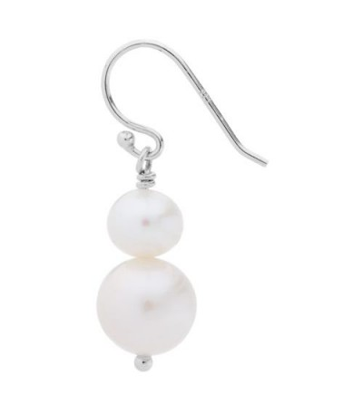 Cultured Freshwater Pearls Earrings 925 Sterling Silver