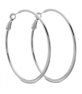 Earrings - Large Graduating Hoop Earrings Italian Sterling Silver