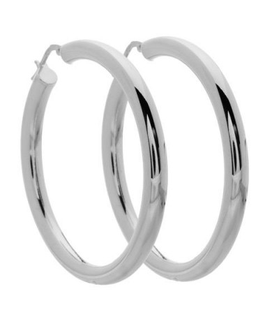 Earrings - Large Hoop Earrings Italian Sterling Silver