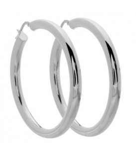 Large Hoop Earrings Italian Sterling Silver