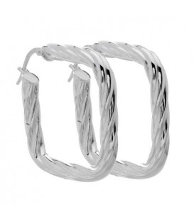 Twist Cushion Earrings Italian Sterling Silver