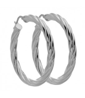Earrings - Medium Twist Hoop Earrings Italian Sterling Silver