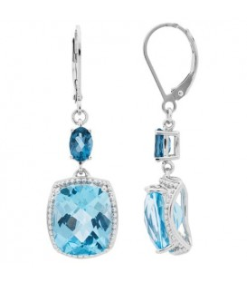 More about 6.5 Carat Blue Topaz Earrings 925 Sterling Silver