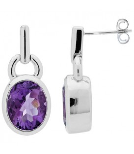 More about 5.00 Carat Oval Cut Amethyst Earrings 925 Sterling Silver