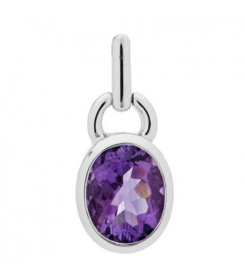 5.00 Carat Oval Cut Amethyst Earrings 925 Sterling Silver