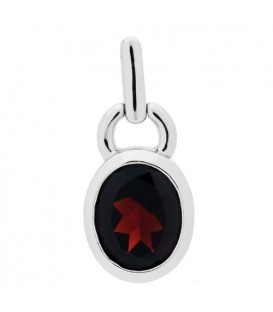 5.00 Carat Oval Cut Garnet Earrings 925 Sterling Silver