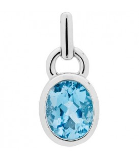 7.00 Carat Oval Cut Blue Topaz Earrings 925 Sterling Silver