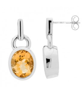 More about 5.00 Carat Oval Cut Citrine Earrings 925 Sterling Silver