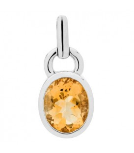 5.00 Carat Oval Cut Citrine Earrings 925 Sterling Silver