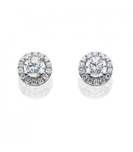 Earrings - 1.27 Carat Ideal Eternitymark Diamond Earrings 18Kt White Gold