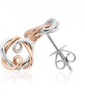 Earrings - Amoro Stud Earrings 18Kt Rose and White Gold