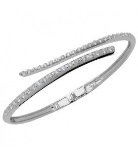Bracelets - 1.87 Carat Diamond Bangle Bracelet 14Kt White Gold