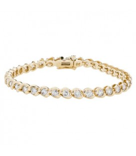 More about 4.00 Carat Diamond Tennis Bracelet 14Kt Yellow Gold