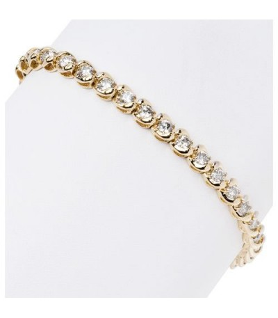 4.00 Carat Diamond Tennis Bracelet 14Kt Yellow Gold