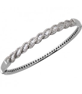More about 1.54 Carat Diamond Bangle Bracelet 14Kt White Gold