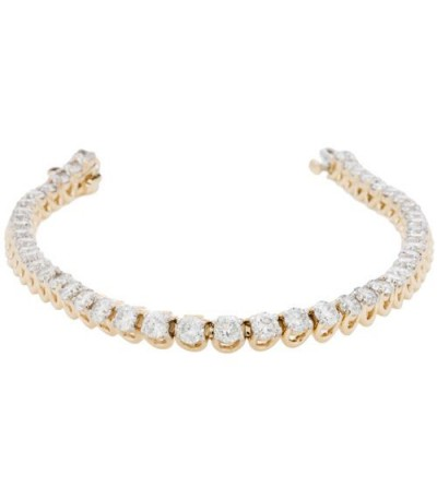 Bracelets - 5.00 Carat Diamond Tennis Bracelet 14Kt Yellow Gold