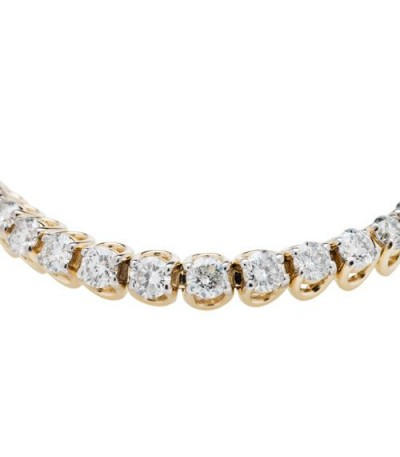 5.00 Carat Diamond Tennis Bracelet 14Kt Yellow Gold