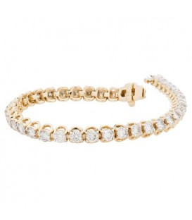 More about 7.00 Carat Diamond Tennis Bracelet 14Kt Yellow Gold
