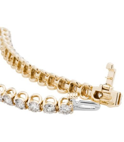 7.00 Carat Diamond Tennis Bracelet 14Kt Yellow Gold