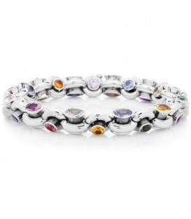 More about 31.59 Carat Multi Color Sapphire Bracelet 18Kt White Gold