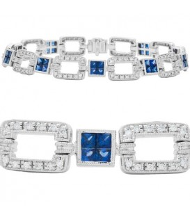 More about 4.90 Carat Sapphire and Diamond Bracelet 18Kt White Gold