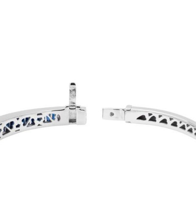3.32 Carat Sapphire and Diamond Bracelet 18Kt White Gold
