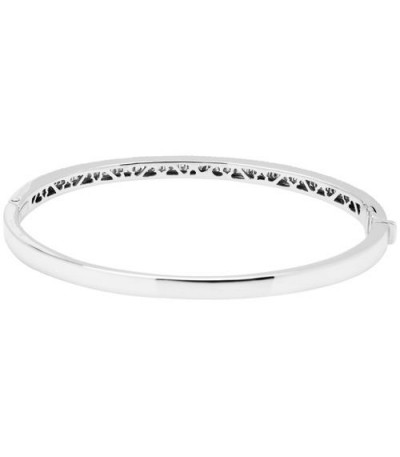 1.10 Carat Diamond Bangle Bracelet 18Kt White Gold