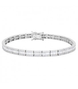 More about 3.05 Carat Diamond Bracelet 18Kt White Gold