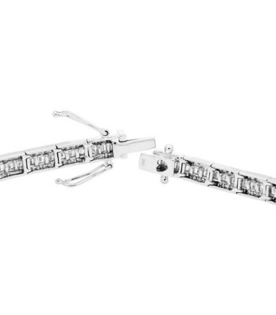 3.05 Carat Diamond Bracelet 18Kt White Gold