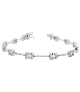 1.50 Carat Diamond Bracelet 18Kt White Gold